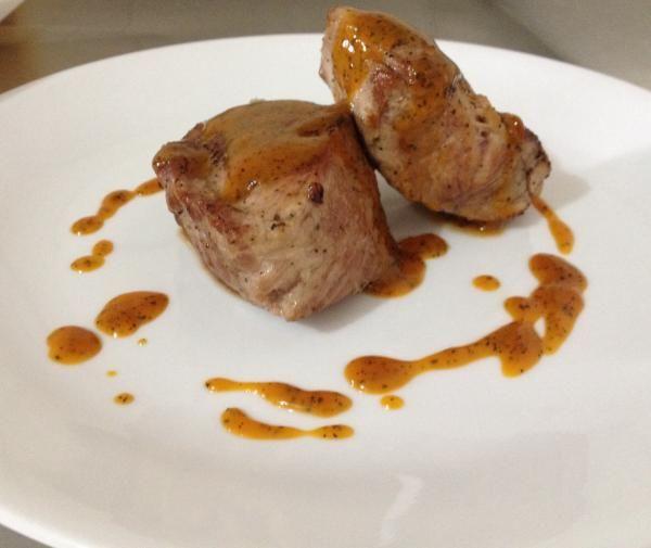Receta de Bondiola de cerdo en salsa de maracuyá