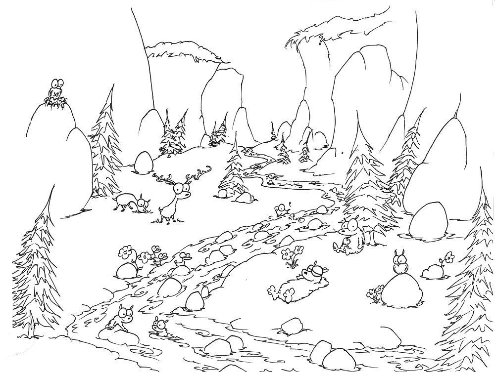 Coloring Page Bears In Yosemite Bluebison Net Jungle Coloring Pages Owl Coloring Pages Coloring Pages