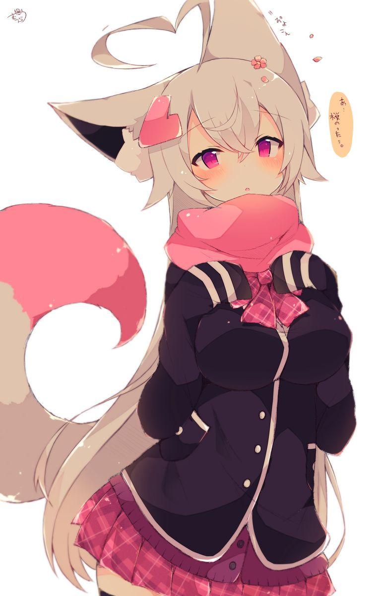 Fox Girl Original Animasi Gadis Animasi Gambar Karakter