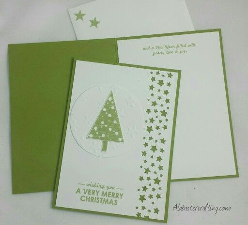Weihnachtkarte/christmas card Stampin up Stamp sets Christbaumfestival, Wishing…