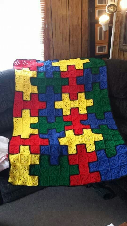 Puzzle Piece Alfgan Crochet Afghans Crochet Crochet