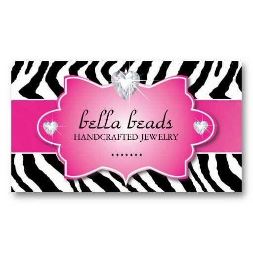 Stylish and modern zebra print business card business cards stylish and modern zebra print business card reheart Choice Image