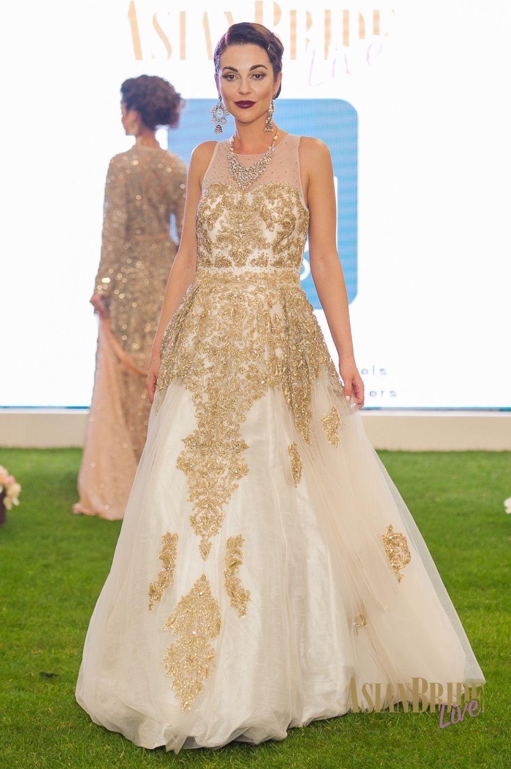 021f219c8a White & gold Wedding Dress Bibi London -INDIAN-PAKISTANI-WEDDING-FASHION