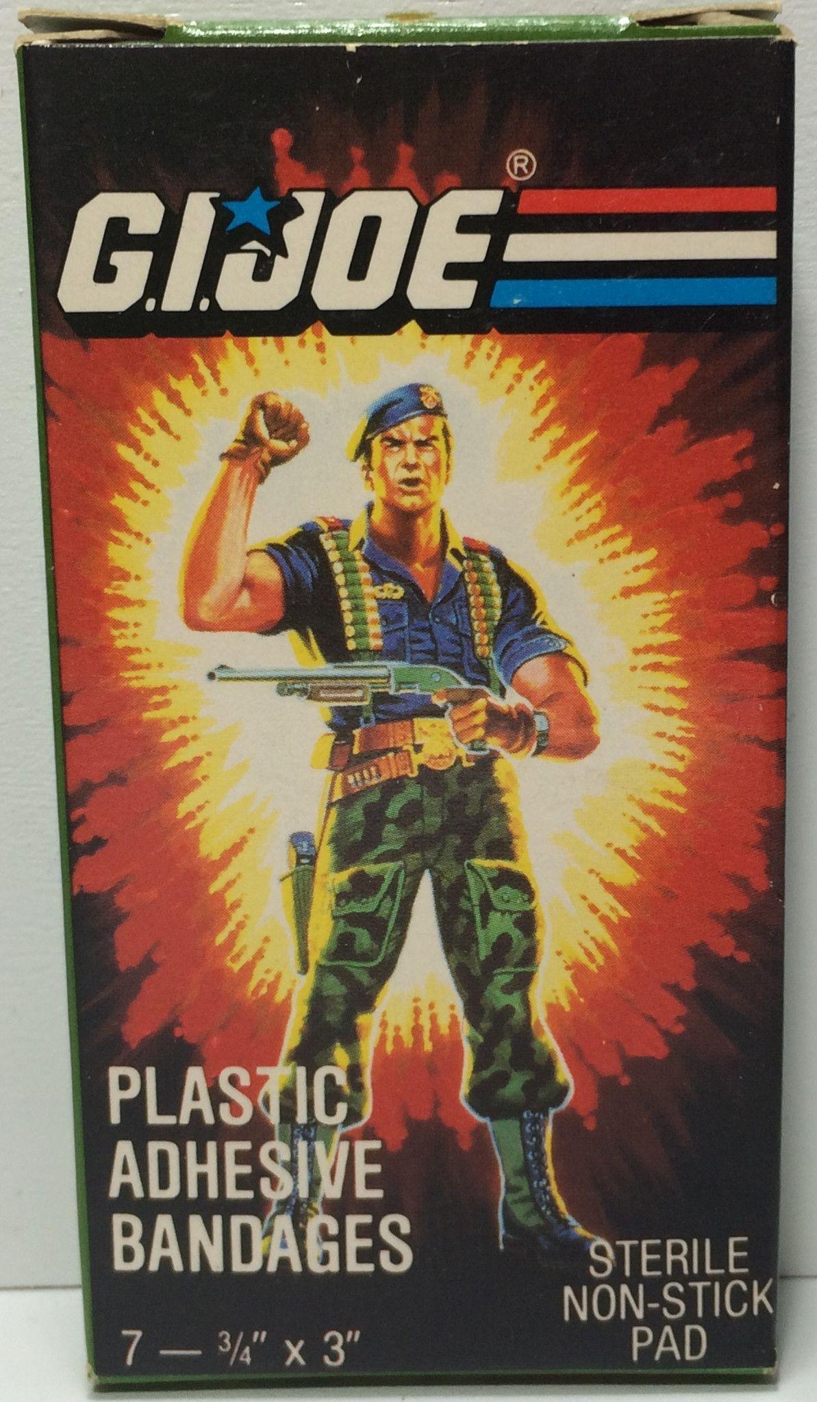 (TAS031835) - 1986 Hasbro G.I. Joe Plastic Adhesive Bandages