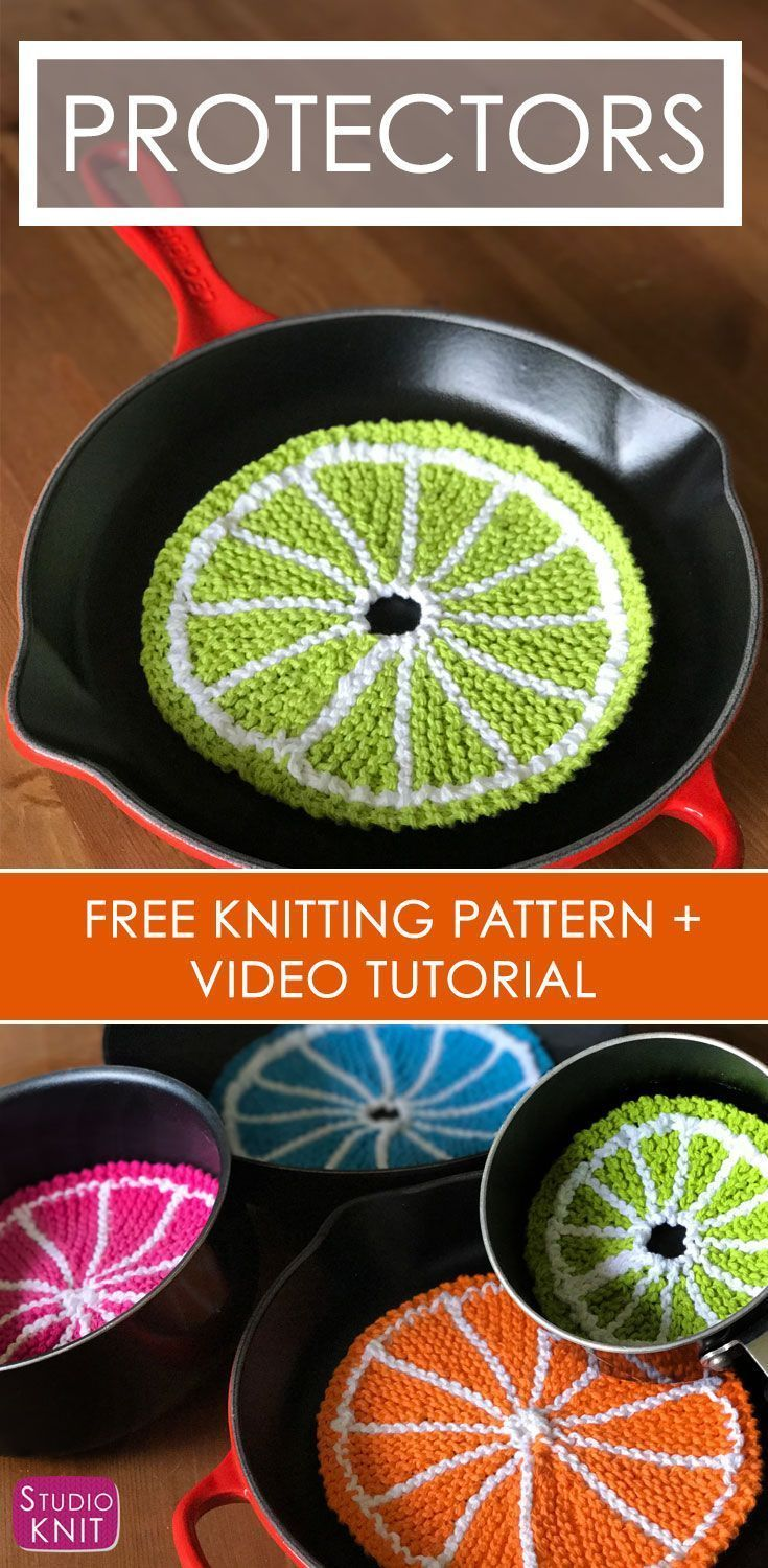 How to Knit Fruit Citrus Slices with Free Pattern + Video | Knitting ...