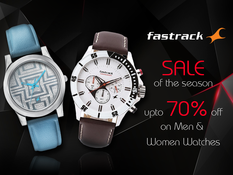 fe4d28434c8 fastrack Big Sale.. Upto 70% off on Men s   Women s Watches. Visit ...