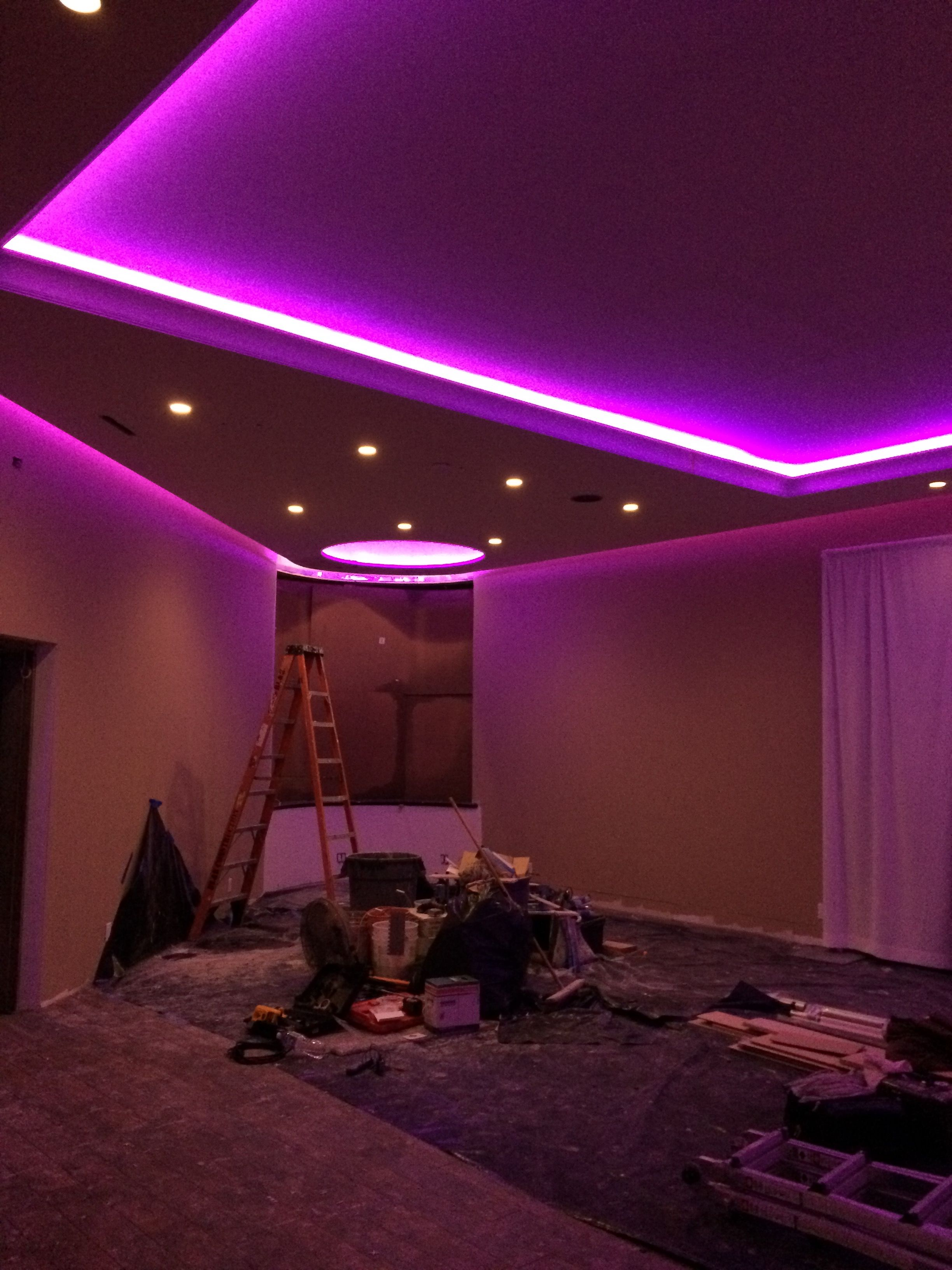 Led tape in soffet millions and millions of colors led