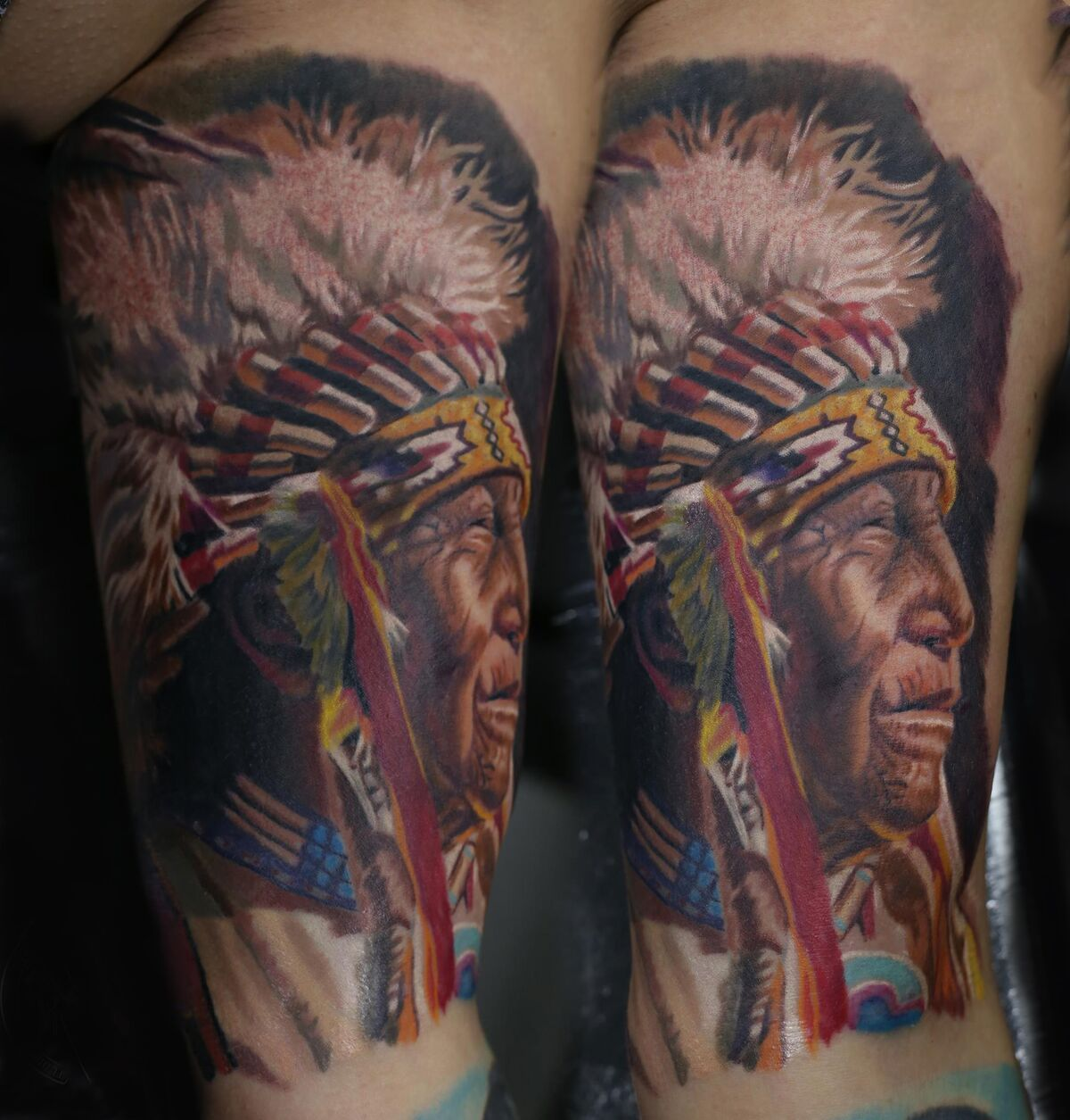 Native American Chief tattoo by Mindy. Limited ...