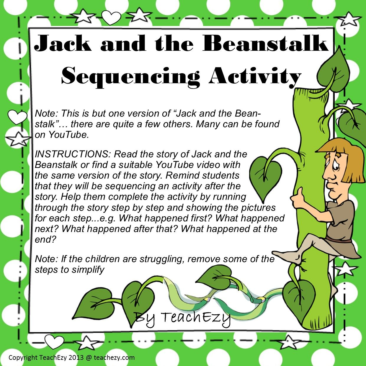 Jack and the Beanstalk Sequencing Printables | For my future