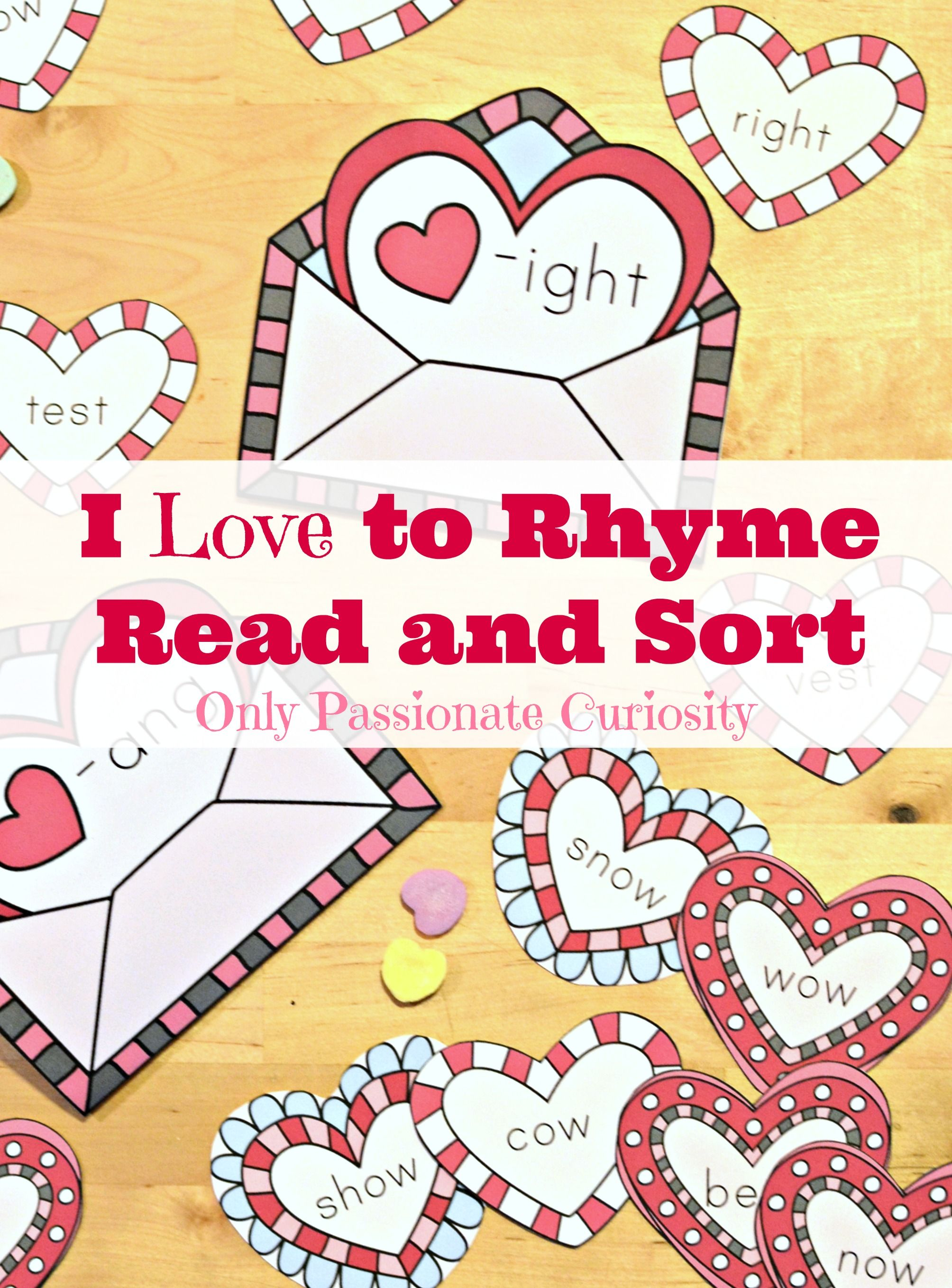 Valentines Day Rhyming Printable Pack