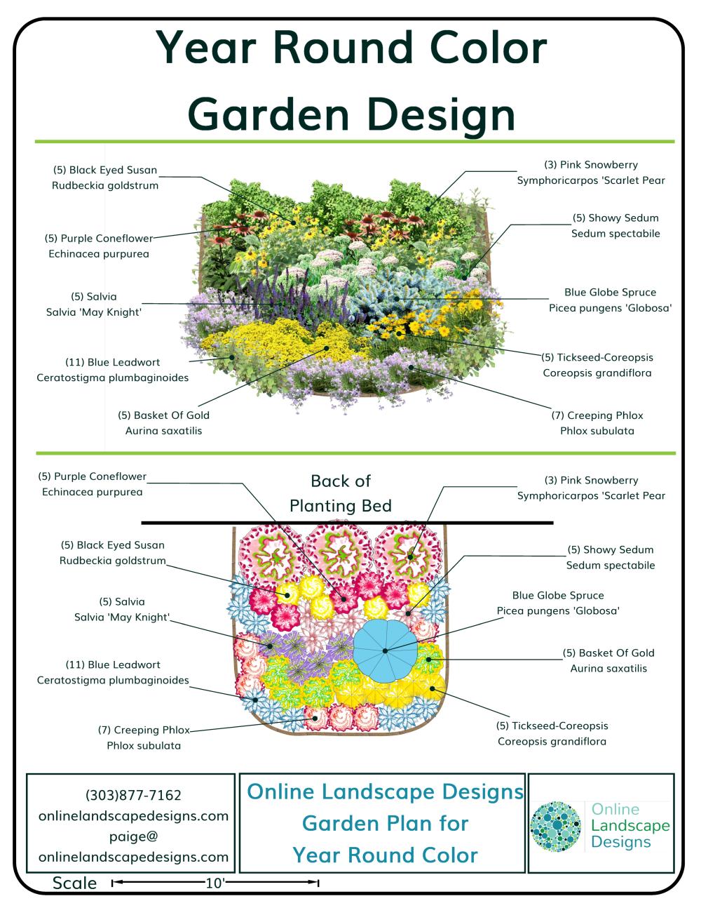 Garden Design Plan for Year Round Color in 2020 | Year ...