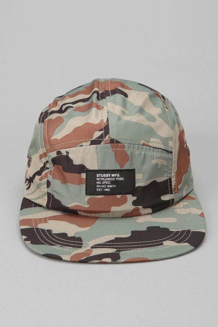 Stussy Military Spec Camo 5-Panel Hat  11732c723f78