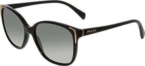 e891f3efcfca Prada Women s Gradient PR01OS-1AB3M1-55 Black Cat Eye Sunglasses Prada  Sunglasses