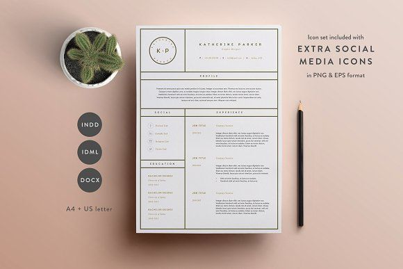 Resume Template 3 Page CV Template Cv template, Template and - 3 resume formats
