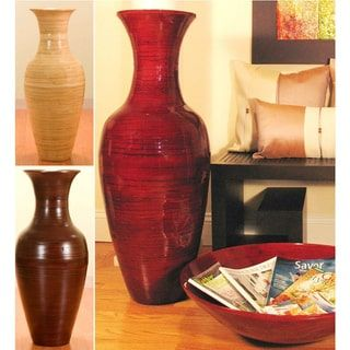 36 Inch Bamboo Tall Floor Vase Lounge Accessories Pinterest