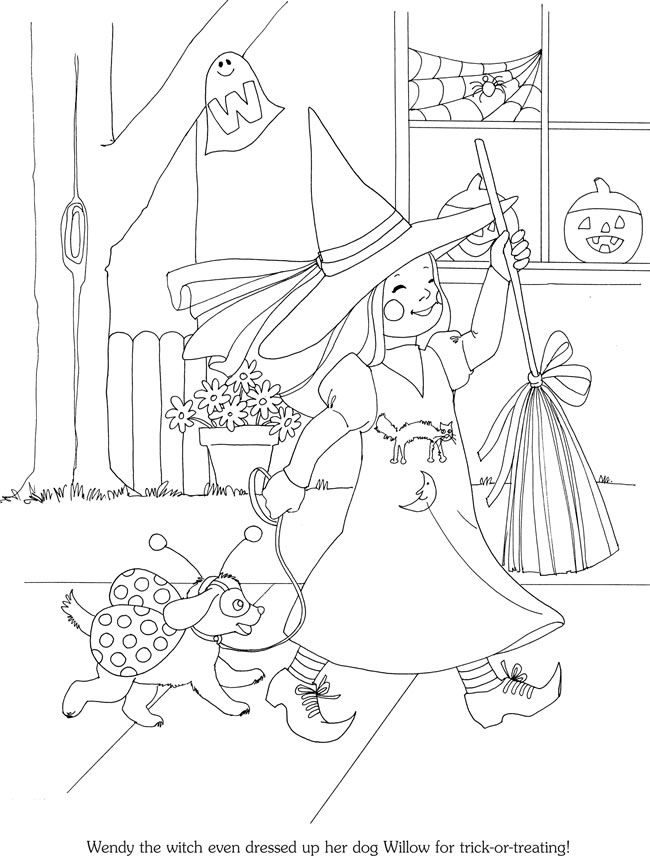 Coloring page - Halloween | coloriage | Pinterest | Färben, Kostüme ...