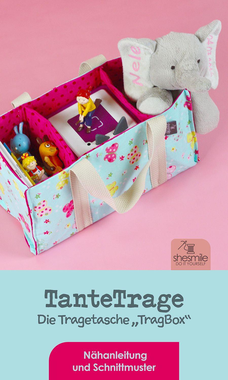 Eine Tragetasche für Spielzeug und die Toniebox nähen - TanteTrage!