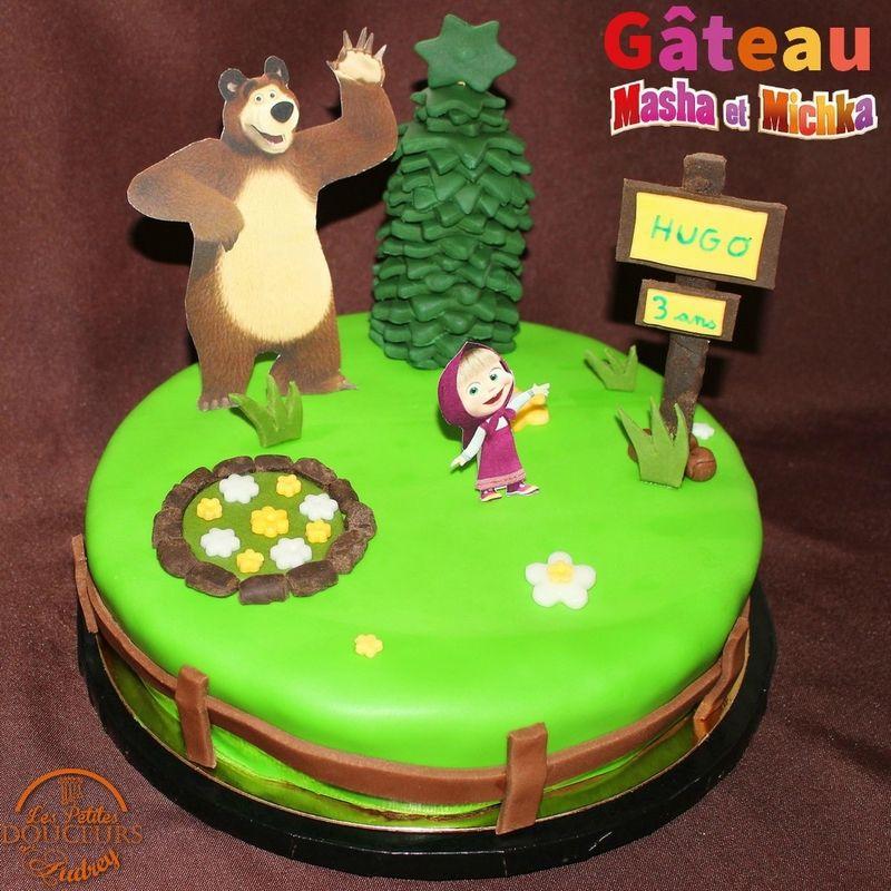 Gâteau Masha Et Michka En Pas Les Petites Douceurs D