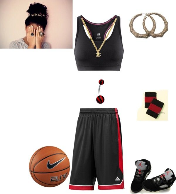 """bout' to basketball wif my boyz"" by aarylova ❤ liked on Polyvore"