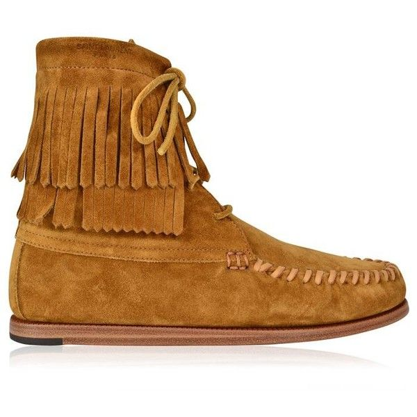 Yves Saint Laurent Saint Laurent Fringe-Trimmed Moccasin Boots buy cheap good selling discount supply free shipping cheap quality huge surprise sale online TWykx