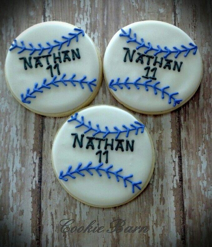 decorate baseball cookies | Baseball Birthday Decorated Cookies