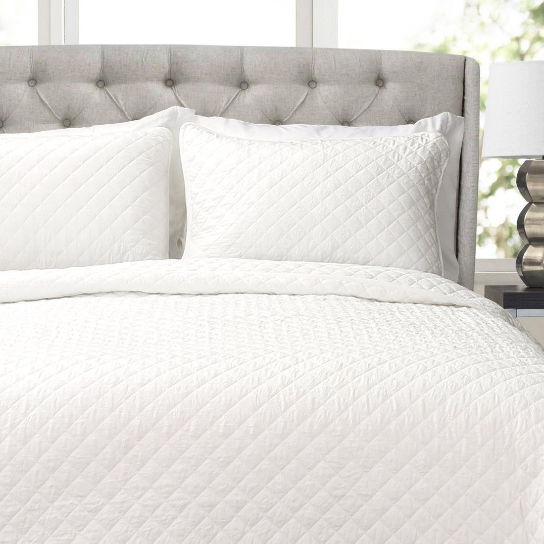 Copper Grove Balm Diamond Oversized Cotton 3 Piece Quilt Set King Size In Blue As Is Item Online Bedding Stores Quilt Sets Affordable Bedding