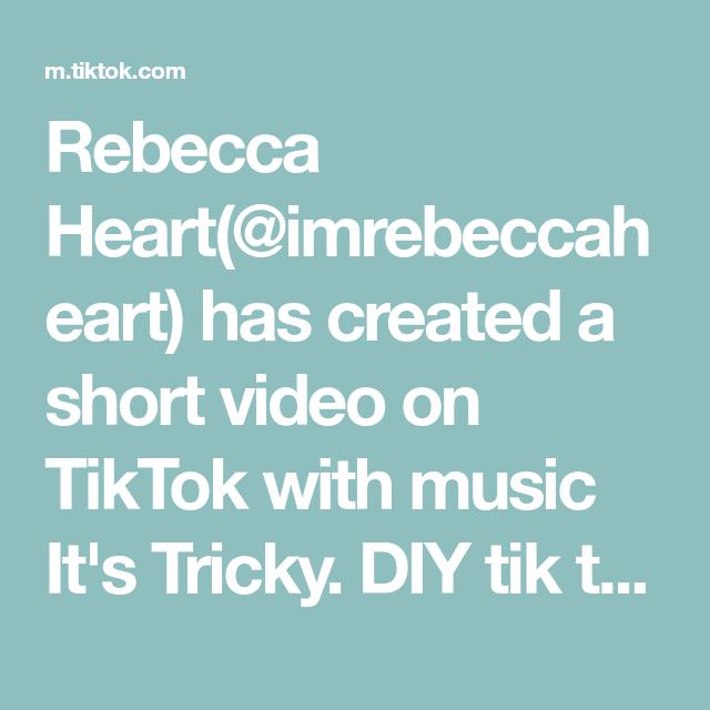 Rebecca Heart Imrebeccaheart Has Created A Short Video On Tiktok With Music It S Tricky Diy Tik Tok Mirror But Make It Scandinav Music Do Life Is Hard Music