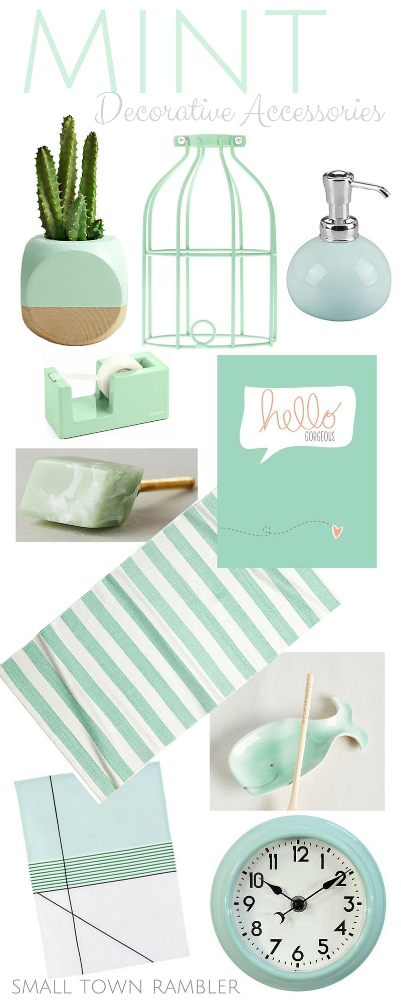 Mint Love Mint Green Decorative Accessories Decorative