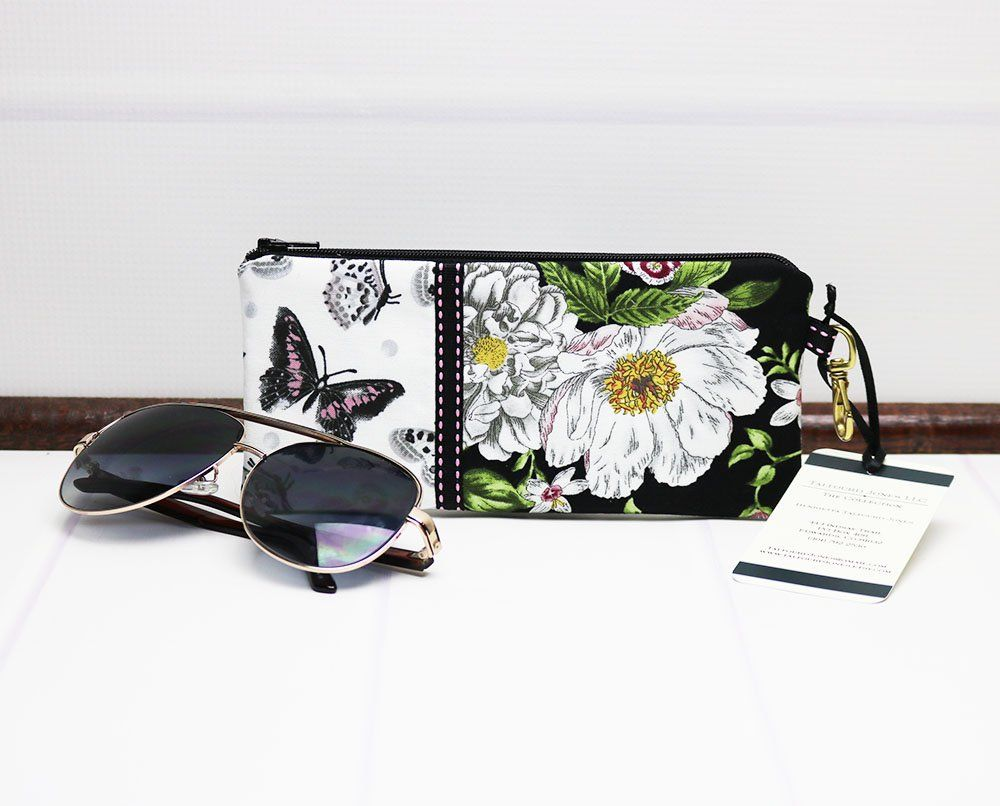 1559ba8e161 Zipper Eyeglass Case - Floral Glasses Case - Sunglasses Case - Reading  Glasses Case - Soft Glasses Case - Spectacles Case by TalfourdJones on Etsy