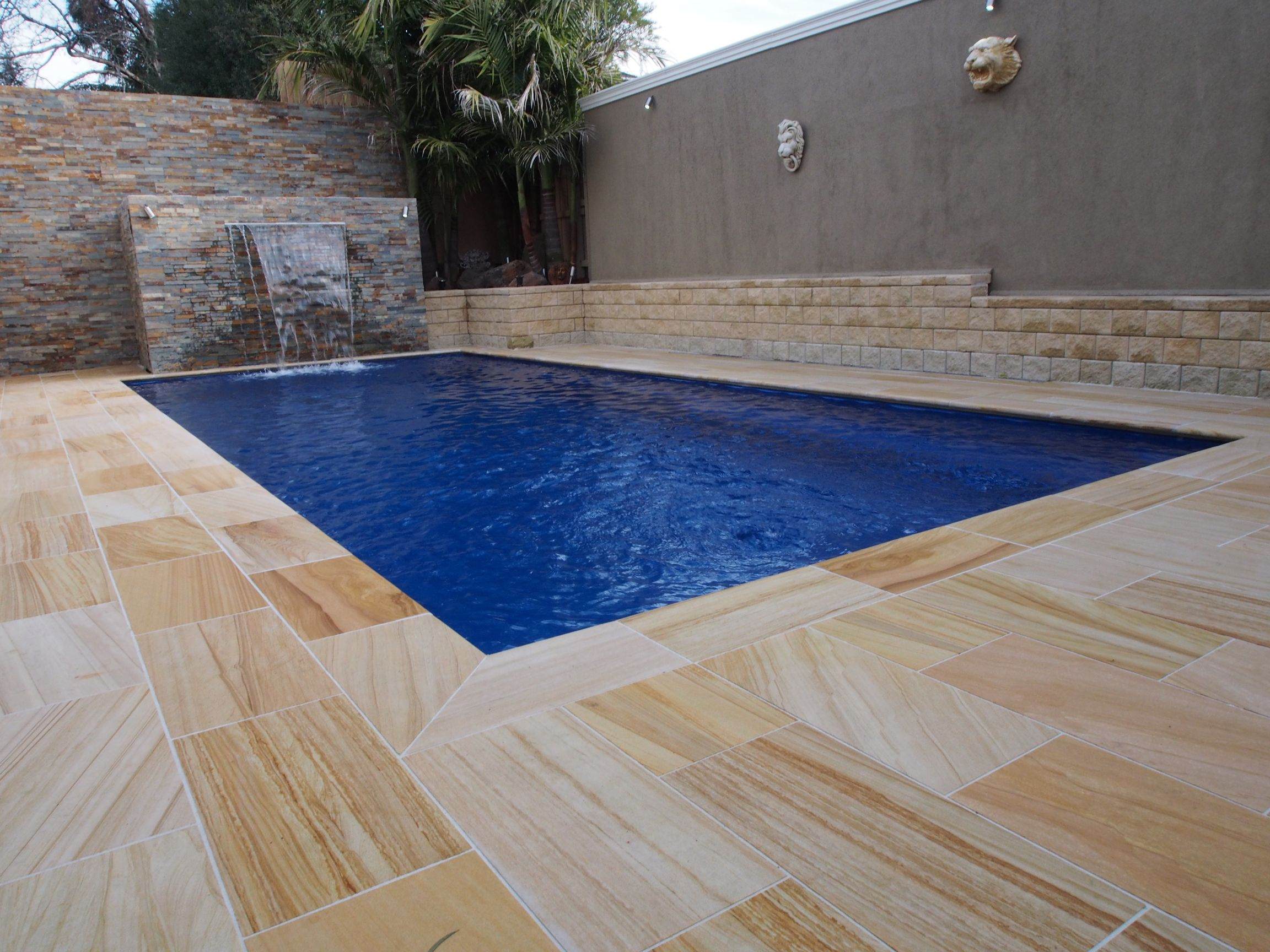 Sandstone #pool, from another angle | Sandstone Pavers & Tiles ...
