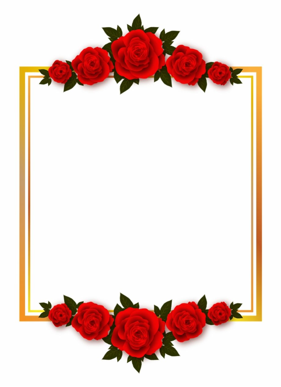 Vacation Rose Flowers Plate Frame Photo Frame Transparent Background Red Roses Clipart Transparent P Flower Frame Flower Backgrounds Frame Border Design