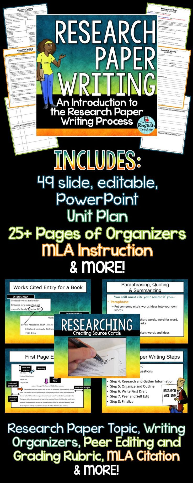 writing research paper powerpoint Writing a college research paper is a process‐ oriented activity that encourages independent learning gathering notes, organizing them, shaping your thoughts, and writing a paper should give you a strong sense of satisfaction allow yourself plenty of .