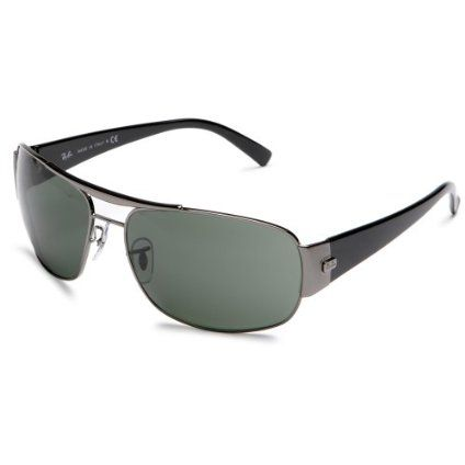 ray ban mens 3357 double bridge sunglassespewter framesmoke gradient