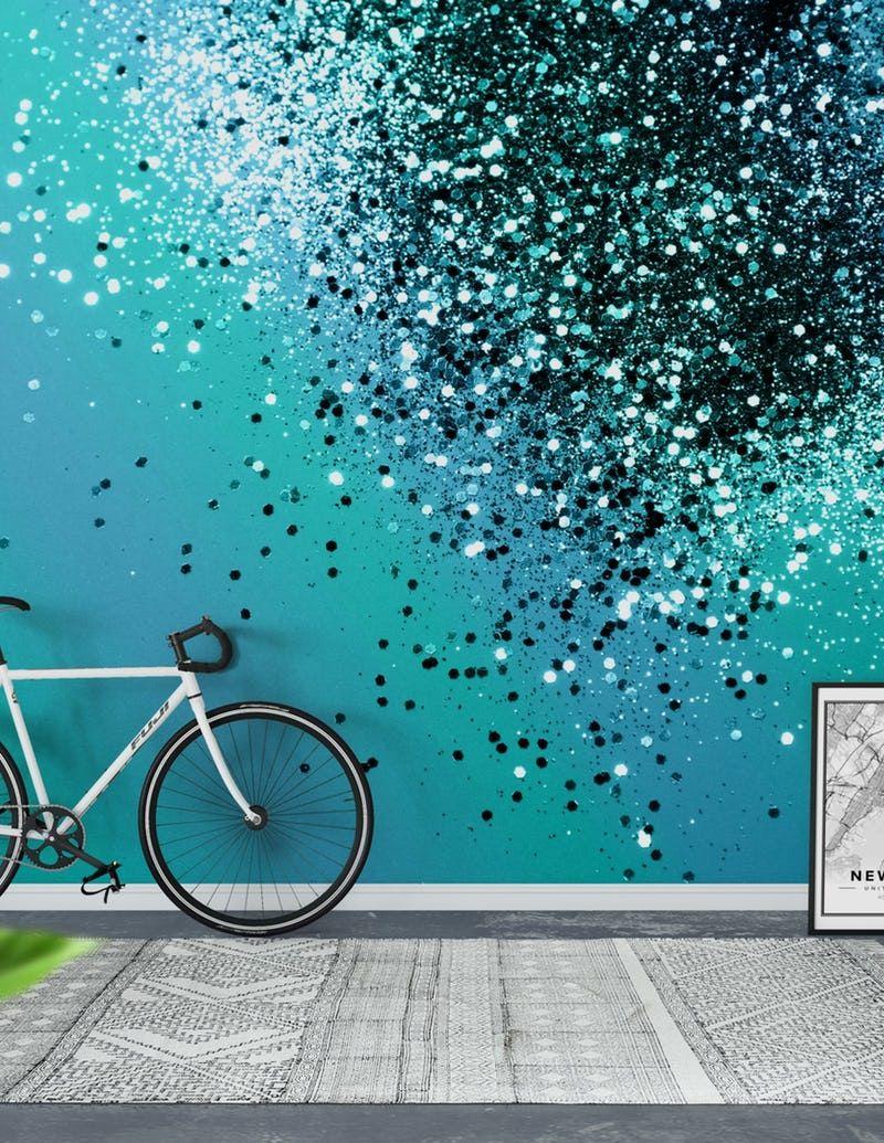 Aqua Blue Ocean Glitter 1 Wallpaper From Happywall Com Gli