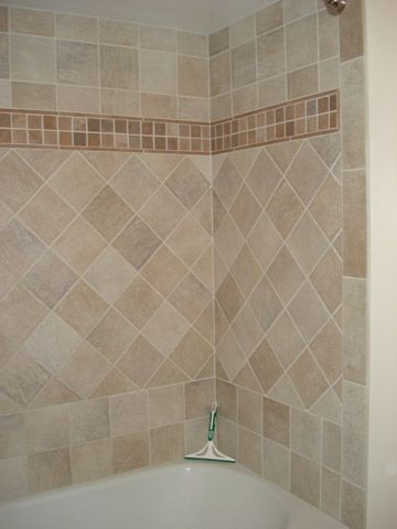 Wonderful Simple, Yet Interesting Shower Tile Design Using Changing The Direction Of  Tile Is The Easiest Way To Create A Design Without Adding A Lot Of Extra  Cost.
