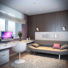 Wandgestaltung Jugendzimmer Beispiel Mädchen Modern Holzverkleidung Flieder  Wandfarbe