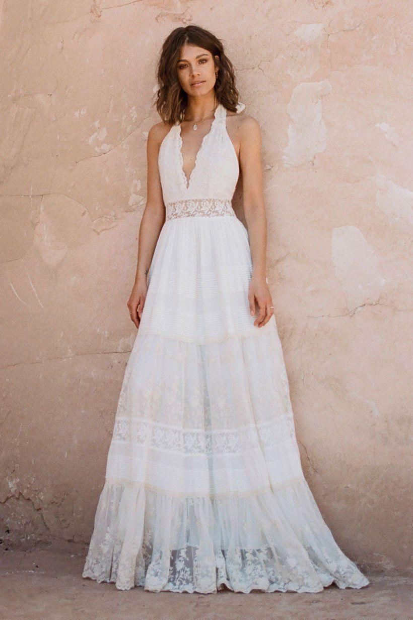 Mila De Wit-Bourke wears Spell Designs Angelica Halter Gown   I do ...
