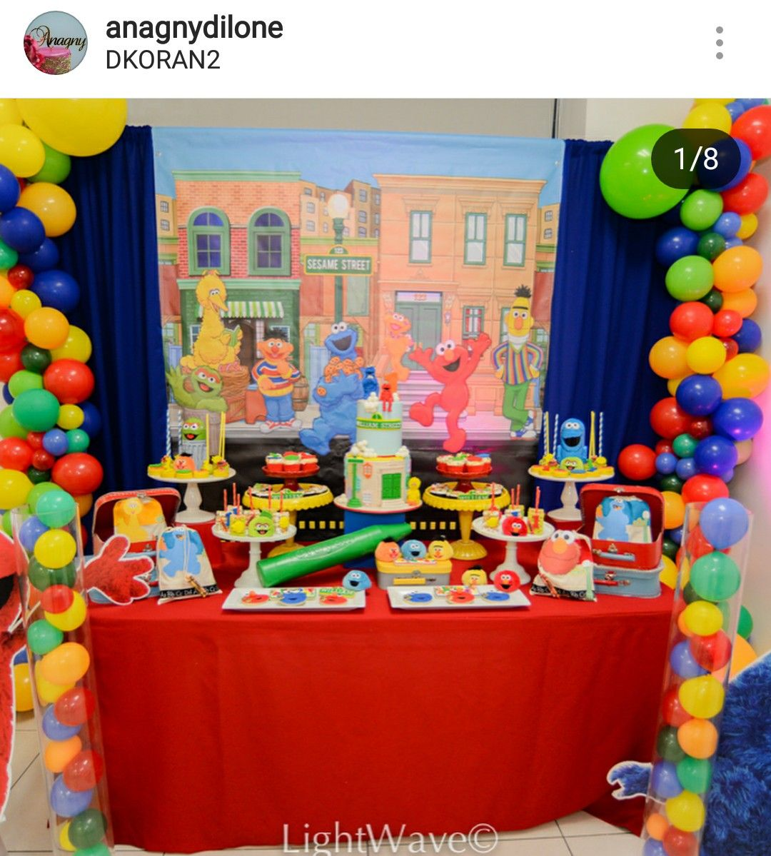 Sesame Street Birthday Party Dessert Table And Decor 2nd Themes