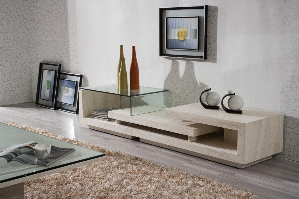 Hot Item Marble Stone Tv Stand D3306 Modern Tv Units Furniture