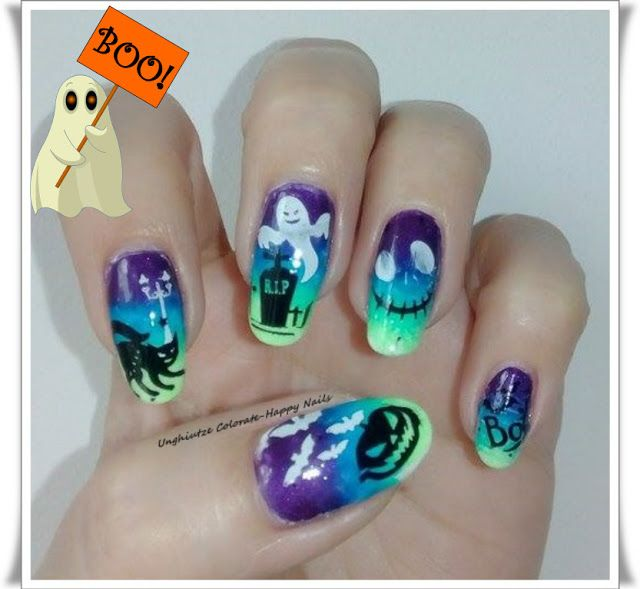 Unghiutze Colorate-Happy Nails: October's Nails Challenge - Halloween