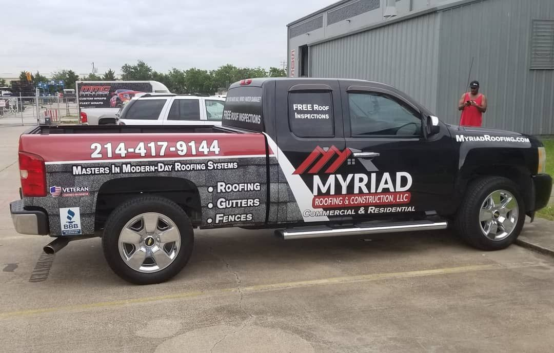 Partial Truck Wrap For Roofing Company Roofing Roofing Companies Roofing Systems