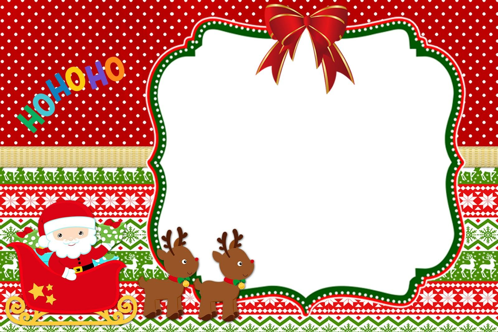 Kit Digital para Festa Tema Natal - Convites Digitais Simples | DIY ...