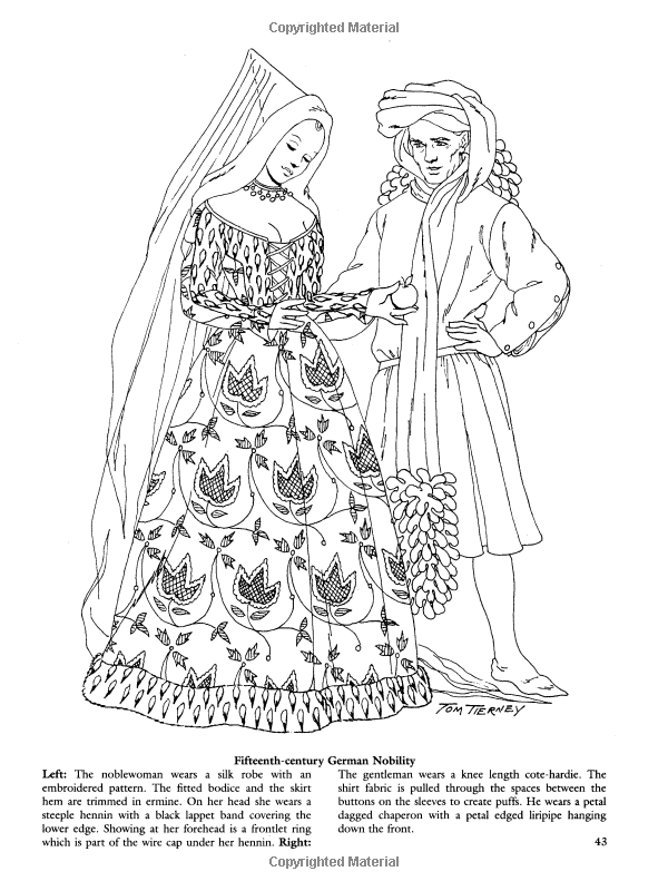 Medieval Fashions Coloring Book Dover Fashion Amazoncouk