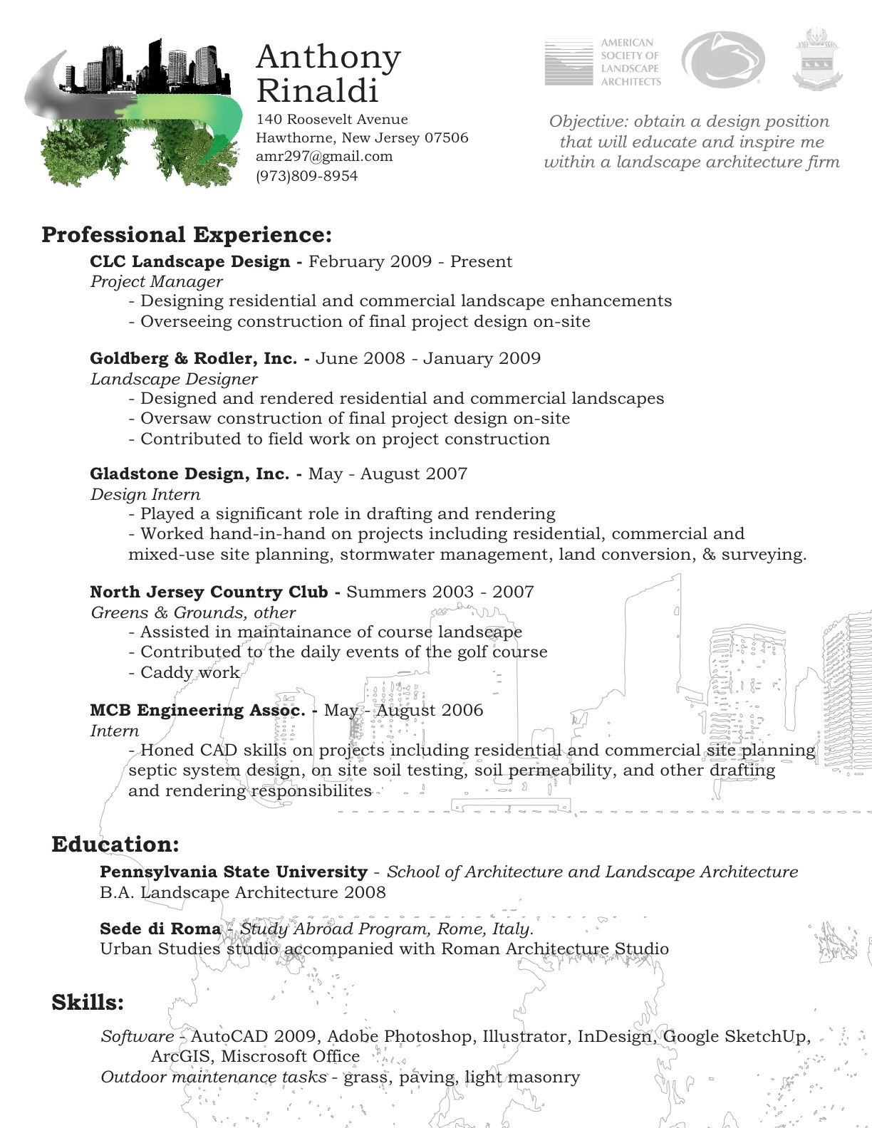 Basic Resume Template 2018 Landscape Architect Resume Templates  Bathroom Design 20172018