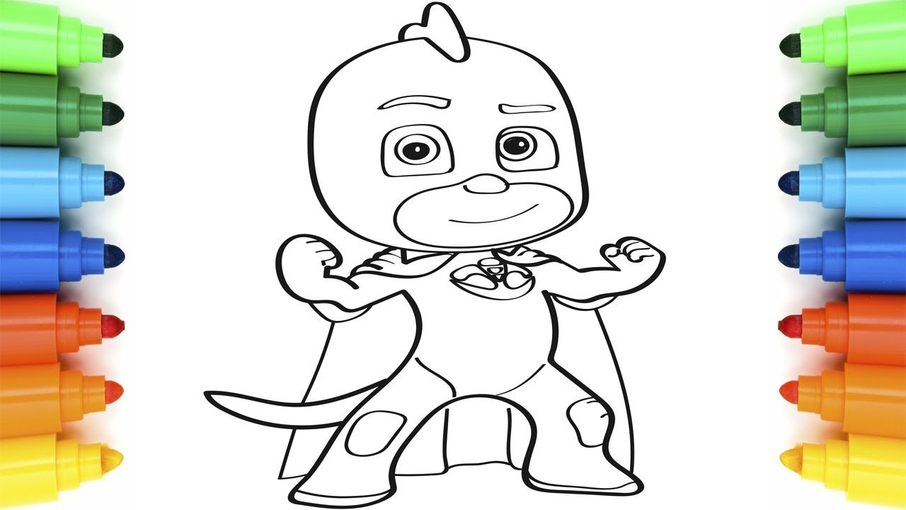 How to Draw PJ Masks Gekko | Coloring Pages for Children | Art ...