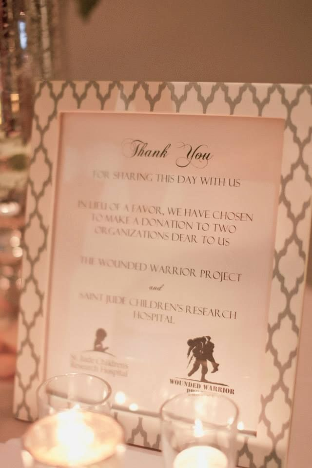 Wedding Favors Gift Of Charity Wounded Warrior Project Mrs