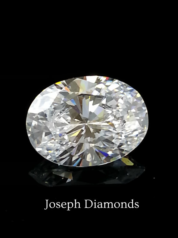 New 1 5 Ct Oval Shaped Lannyte Lab Created Diamond D If Clarity Loose Gem Simulant Diamond Cubic Zirconia Moissa Lab Created Diamonds Man Made Diamonds Diamond
