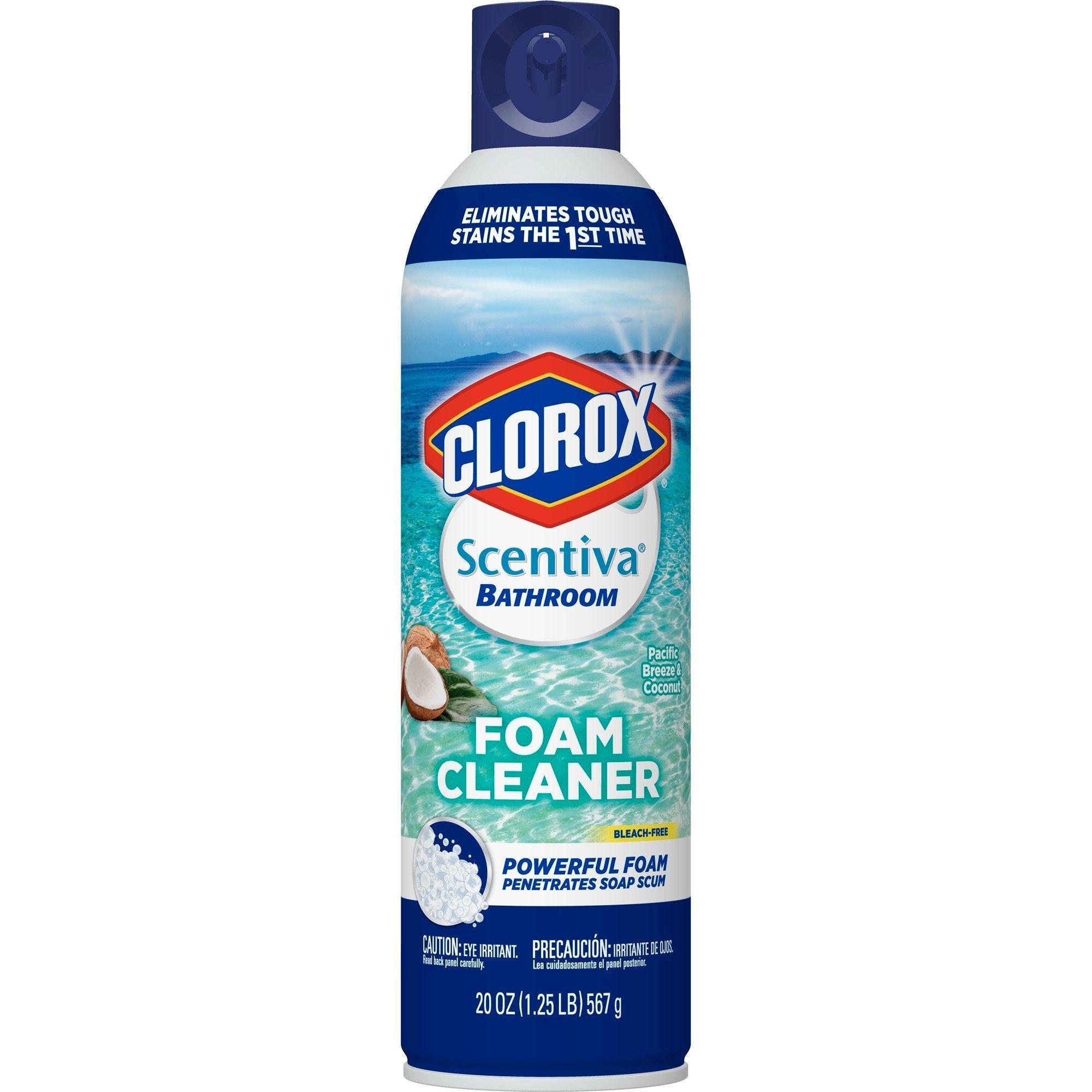 Clorox Scentiva Bathroom Foam Cleaner Bleach Free Surface Cleaner Pacific Breeze Coconut 20oz Surface Cleaner Clorox Sugar Scrub Diy