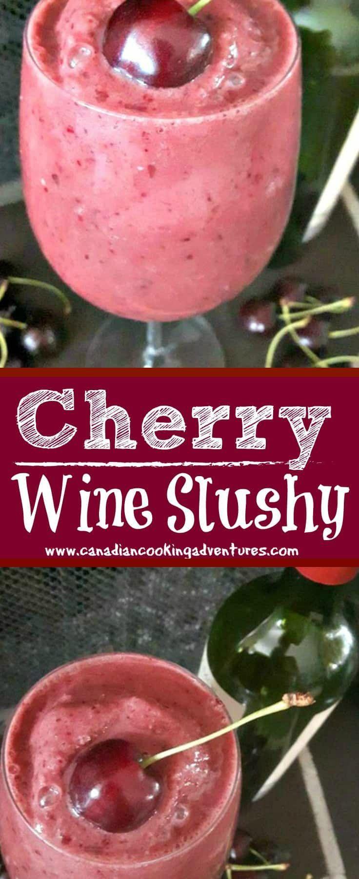 Red Wine Cherry Slushies Recipe Wine Slushie Recipe Slushie Recipe Wine Slushie