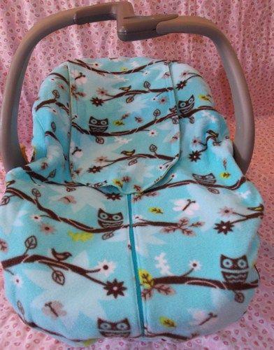 Superb Winter Baby Car Seat Cover Owl Baby Infant Boy Girl Blue Machost Co Dining Chair Design Ideas Machostcouk